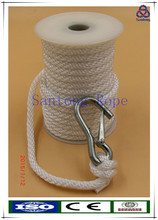 Solid braid black pp anchor rope with snap hook