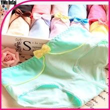 Cute bowknot newest cartoon ladies underwear lovely girls cotton underpants
