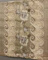 china supplier magnetic fabric breathable embroidery curtain fabric