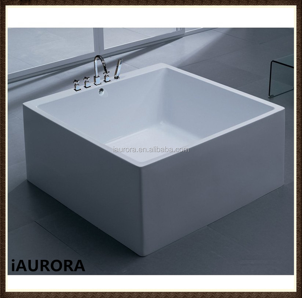 Square Shaped Small Freestanding Acrylic 1200mm Bathtub - Buy 1200mm ...