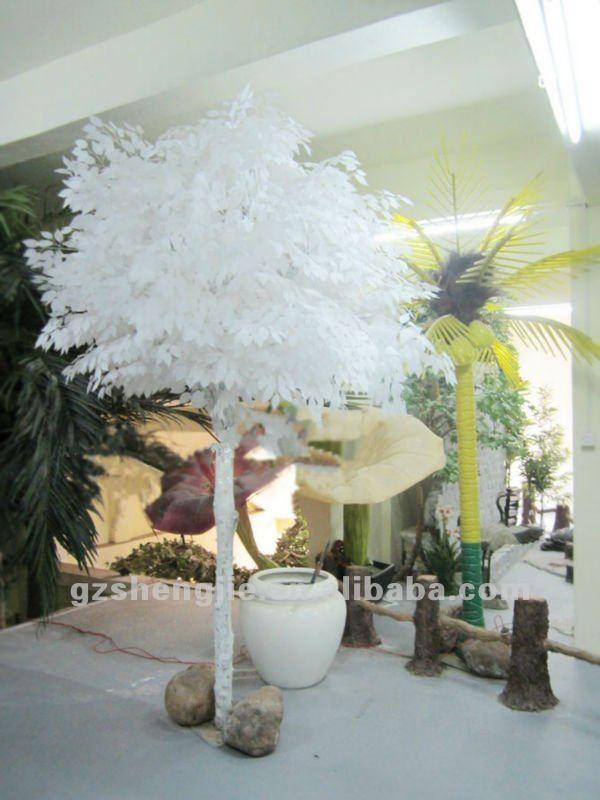 sj qualit artificielle ficus avec feuilles blanches arbres artificiels pour int rieur. Black Bedroom Furniture Sets. Home Design Ideas