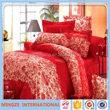 Reactive printed 3d bedding set king size 100% cotton modern bed sheet sets cheap luxury wedding bedroom set