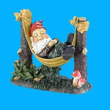Garden or Yard Art Statue Fishing Resin Gnome Statue