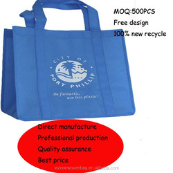 2015 supermarket tote non-woven promotional bag