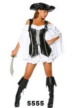 de la mujer para adultos capitán pirata disfraz de carnaval