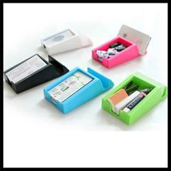 Creative cute cell phone bracket multifunction desktop business card holder