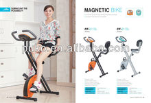 Classic foldable magnetic exercise bike with hand pluse