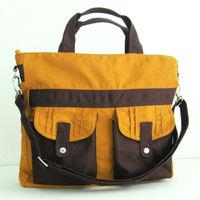 Lightweight crinkle nylon laptop messenger bag laptop messenger bag with handle messenger bags
