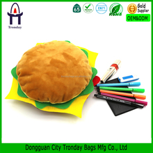 Food shaped pencil case, hamberger plush pencil case
