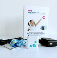 Three colors super mini RF-V16 personal elderly kids gps tracker , sos & two ways communicator with 12 days stanby time