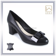 Genuine leather, 35-40SIZE, black color, high heels pumps shoes for office women, new model 2015