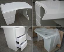 Modern fashinable white compact computer desk