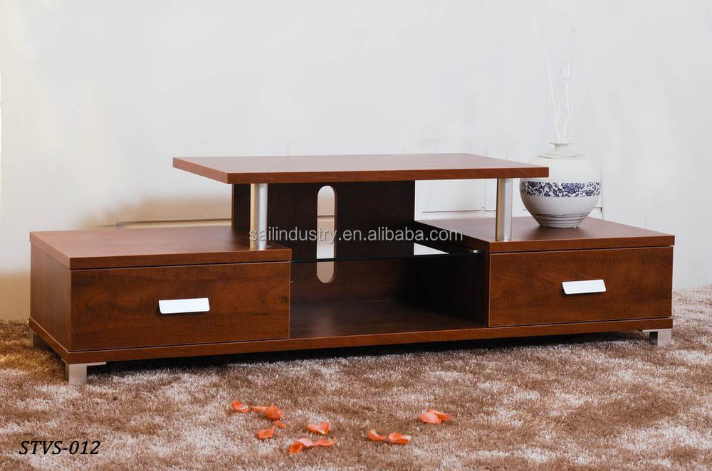Wood led tv table tv stand design buy lcd tv table for Table tv design