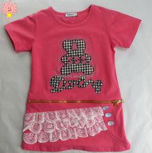 O-neck Fashion Embroidery Girls T-shirt