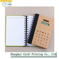 spiral accounting a4 notebook with calculator