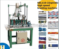 Hottest sell 32 carriers round rope paracord /climbing rope/skipping rope braiding machine
