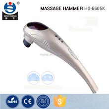 HS-6605K 2015 best ABS material designed handheld vibrating body massager /massage hammer