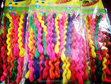 hot wholesale assortment colors 100pcs pack spiral balloon/screwed balloon for decoration