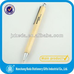 Click Action Maple Wooden Ball Point Pen