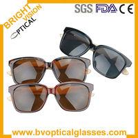 Bright Vision acetate bamboo temple polarized sunglasses