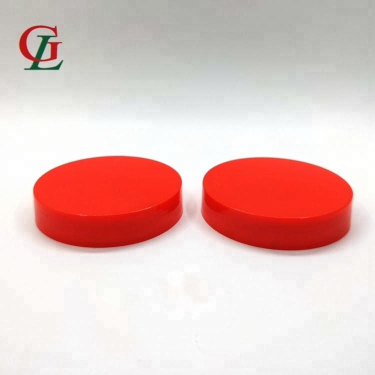 57mm-400 الأحمر كبير حجم PP برغي واحد كاب الحلوى جرة كاب البلاستيك المسمار غطاء رأس ل جرة