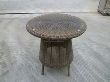 Garden used rattan coffee table sets round table with 2 chairs