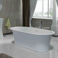 resin stone freestanding short bathtub