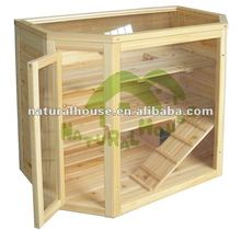 Non-toxic wooden hamster cage