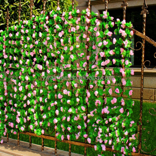 wholesale outdoor decoration plastic artificial flowers On artificial grape vines decoration