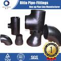 Tope a234wpb tubo de hierro negro soldadas a tope accesorios de acero al carbono