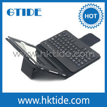 Bluetooth Keyboard and Stand Case for iPad Mini Made of PU Leather