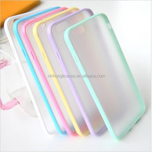 Candy Colors Ultra thin Clear Case for iphone 6 Slim Matte Back Cover Jelly for iphone6, 4.7 TPU + PC Pink