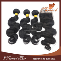 Best selling wholesale 22 real human hair brazilian hair exporters 5a grade brazilian body wave hair weave and closure