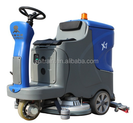 Cleaning vehicle electric cleaning car sweeper marble for Industrial concrete floor cleaner