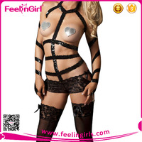 Wholesale latest leather underwear lingerie for women