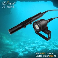 Brinyte DIV10w High power beam angle 120 degree 4500lumens diving flashlight