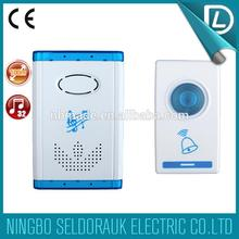 Full stock battery type remote control wireless welcome door chime factory directly sales