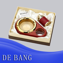 Red wooden fancy ashtray
