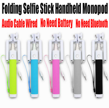 New china products for sale extendable hand held monopod wired selfie stick for samsung galaxy s3 mobile phone camera