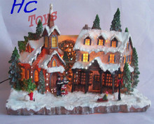 Tourist LED Building Souvenir, Resin Christmas Miniature, Polyresin Christmas Gift