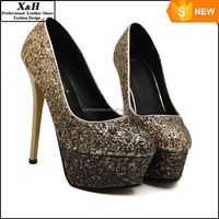 New 2016 Fashion Platform Glitter Women Pumps Wedding Shoes High Heels Red Bottom Crystal Party Pump Bridal Shoes White