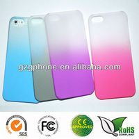 Hard Back Cover case with Gradual Color Rubber coating for mboile phone for iphone 5