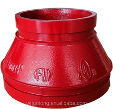 FM UL Approved Grooved pipe Fittings Cast Concentric Reducer/Grooved Concentric Reducer with a Female Thread