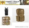 Military First Aid Kit With Backpack Design
