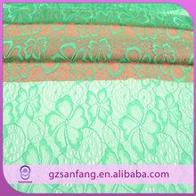 High quality fancy lace design football shirts fabrics