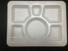 Foam tray six compartmetn