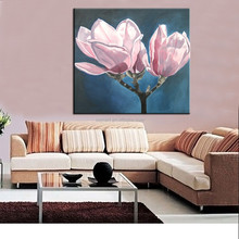Dafen Wholesale Cheapest Handmade Wall art Magnolia Flower Oil Painting