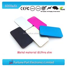 RoHS approved travel emergency card shape phone battery 4000 mAh
