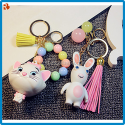 Sophisticated technology ODM cat head keychain