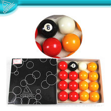 "Customized 2"" resin pool ball set"
